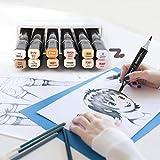 Rotuladores de arte de doble cabeza de alcohol, rotulador de arte, para multitudes de anime, ropa, diseño de interiores de paisaje,(12 colors)