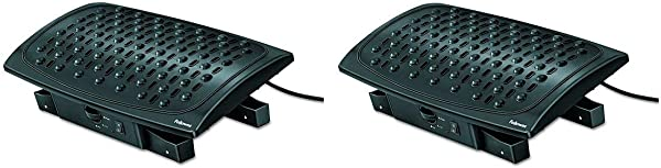 Fellowes Climate Control Footrest 8030901 Pack Of 2