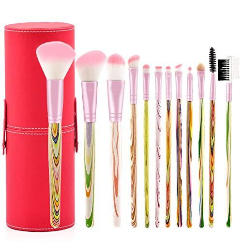 ZhangC gezichtskwast, oogschaduwkwast, lippenborstel met zachte synthetische haren oogmake-uppenseelset make-up beginners voor oogschaduw, wenkbrauw, ooglier, menging