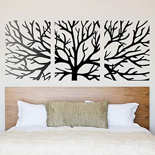 BailongXiao Wandtattoo Innovation und aktueller Stil Wandtattoos unterteilen einen Baum in EIN modulares Schlafzimmerdekor 101X42cm