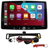 BOSS Audio Systems Elite BE10ACP Car Stereo Safe Driver's Bundle w/ ACAM4 Backup Camera. 10.1' Capacitive Screen Head Unit w/ Apple CarPlay, Android Auto, Bluetooth, 1-DIN w/ 2-DIN Conversion Brackets