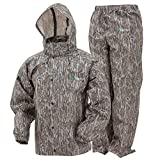 FROGG TOGGS Men's Classic All-Sport Waterproof Breathable Rain Suit, Mossy Oak Bottomland, XXX-Large from FROGG TOGGS