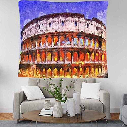 Wandtapijt wandbehang tapijt tapijt wandtapijt Rome Grand Arena, Europe landscape Painting Bohemian Hippie Wall Tapestry Home Decorations for Living Room Bedroom Dorm Decor 59.1×39.4inches (150×100cm) zoals getoond