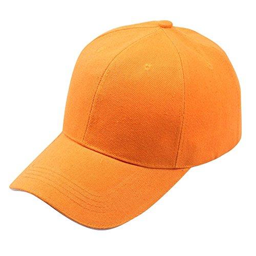 BUKINIE Couleur Unie Protection UV Running Sport Casquette de Baseball Chapeau de Soleil Sun Visor Hat Casquette Hip-Hop Trucker pour Hommes et Femmes (Orange)