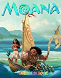 Moana Coloring Book: Moana Coloring Book for Kids Ages 4-8: 45 Cute, Unique Coloring Pages
