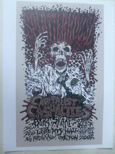 Splatterhouse @ portland, 200635,6x 25,4cm Gig poster