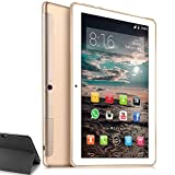 Tablet 10 Inch 4G LTE - TOSCIDO Android 10.0,Otca Core 3GB RAM 64GB ROM,Dual SIM,WiFi/Bluetooth/GPS/Type C Port,Dual Stereo Speaker- Golden