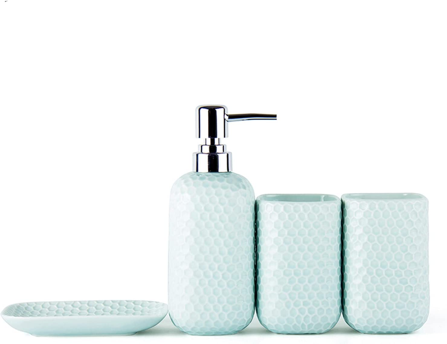 WANLN Ceramic Bathroom Accessories Weekly update Set Or Includes Liquid Soap Max 80% OFF