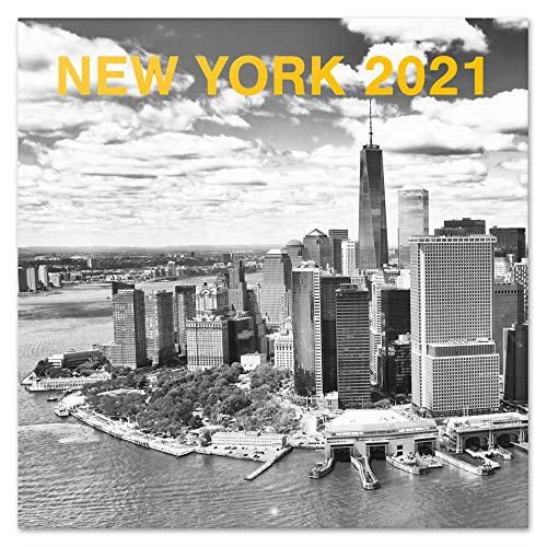 Erik Wandkalender New York Schwarz-Weiß - Kalender 2021 für 16 Monate