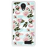 Hapdey Funda Transparente para [ Energy Phone MAX 4G ] diseño [ Ilustración botánica florecida, Rosas Rosadas ] Carcasa Silicona Flexible TPU