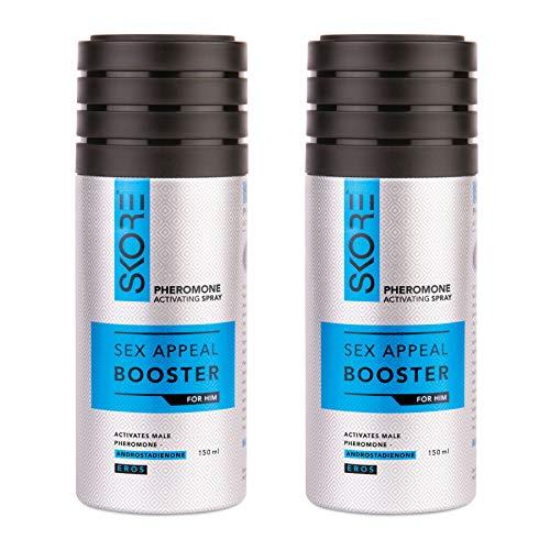 Skore Pheromone Activating Deodorant Spray for Men - Pack of 2, 150 ml (Pack of 2)