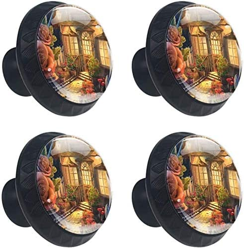 4 Special sale item Pack Round Kitchen Cabinet Knobs Fantasy Albuquerque Mall A Cottage with Pulls