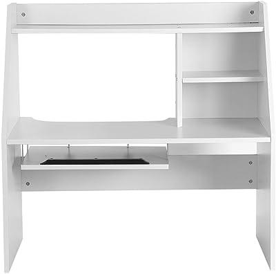 GOTOTOP Wooden Storage ShelfBed Notebook Desk Computer Laptop Study Table Organizer Display Shelf