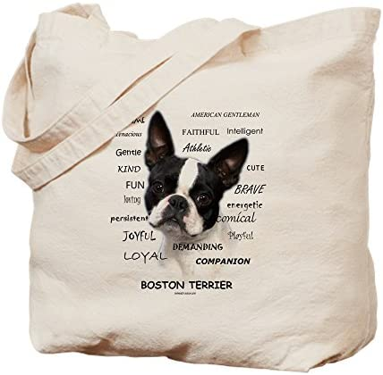 CafePress A Boston Terrier Is Natural Canvas Tote Bag Reusable Shopping Bag product image