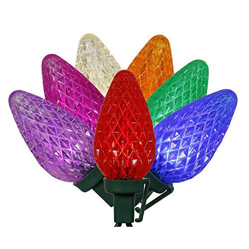 Vickerman Single Mold C9 LED Christmas Set String-Lights, 25Lt, Multicolor