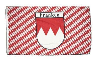 Flagge Deutschland Franken kariert - 90 x 150 cm