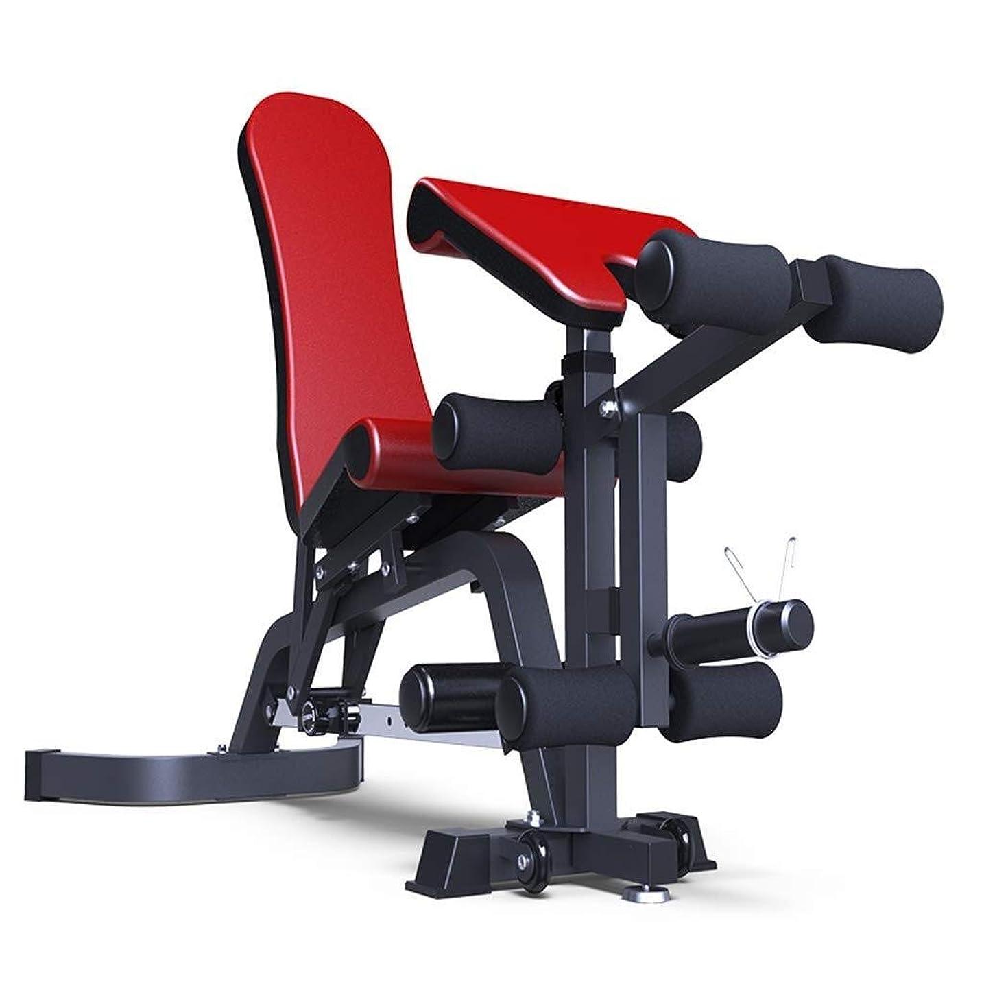 情報靴あいまいさYSYYSH ダンベルベンチ商業鳥ベンチベンチプレスのトレーニングベンチ仰臥位ボードフィットネスベンチスポーツフィットネスチェア太いスチールベンチレッドブラック フィットネスチェア (Color : Red)