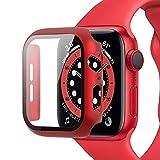 Miimall Kompatibel mit Apple Watch Series 6/SE/5/4 44mm Hülle mit Panzerglas Displayschutz,...