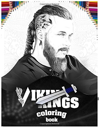 Vikings Coloring book: björn ironside , Ragnar Lodbrok ,Floki , lagertha , Rollo , funny gifts for adults and Kids (5.8x11)