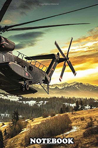 Notebook: Ch53 Helicopter In Flight , Journal for Writing, College Ruled Size 6