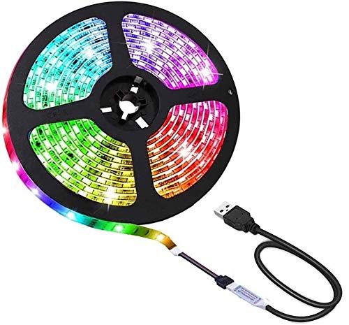 Suntec Wellness Guirlande LED RVB étanche de 100 cm + Mini-câble USB 2.0