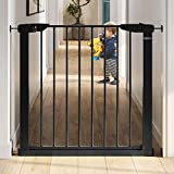 Graco BabySteps WalkThru Metal Safety Gate Secure PressureMounted Baby Gate for Doorway Expands from 29.540.5' 29.5' Tall Includes 3 Extensions Perfect for Children PetFriendly, Black