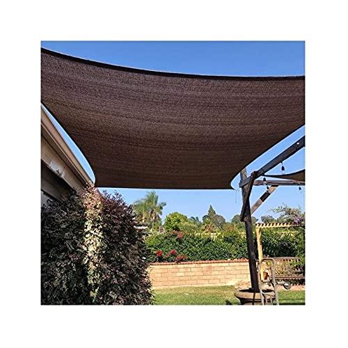 SDWJJ Tela de Sombra con Campamento Perforado Terraza de Cerca de Alta Densidad Polietileno -Ultravioleta a Prueba de Viento 5m Cuerda Blanca Techo terraza jardín Caja de Arena toldo
