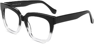 Firmoo Blue Light Blocking Glasses, Oversize Square Computer Eyewear, Anti Eyestrain Anti Glare Eyewear for Women Men