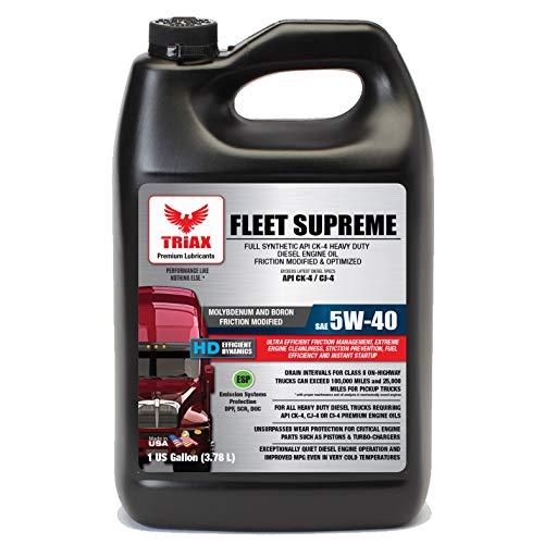 Triax Fleet Supreme 5W-40 API CK-4 Full Synthetic...