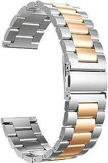 Roestvrijstalen armband Smart Watch-armband voor -Garmin venu SQ Smart Watch dubbele klikgesp Massief roestvrijstalen armb...