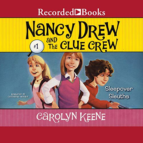 Sleepover Sleuths audiobook cover art