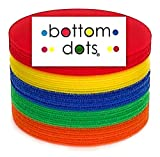 BOTTOM DOTS - Carpet Dots Adhesive Spots 5' Colorful Sitting Markers for Classroom Teachers and Children Carpets Circles Sits Dot Marker Sit Kids Blue Green Red Yellow Kid Floor Sit Circle School 21