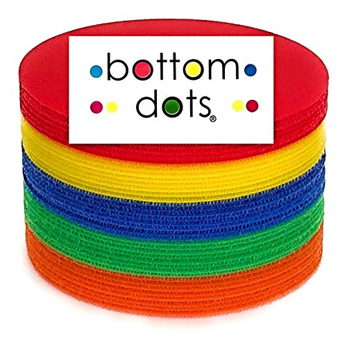 BOTTOM DOTS 30 Carpet Spots 5 Inch Colorful Sitting Markers for Classroom Teachers and Children Adhesive Carpets Circles Spot Sits Marker Sit Kids Blue Green Red Yellow Kid Floor Circle School Teacher