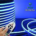 IEKOV LED NEON Light Strip, Trade; AC 110-120V Flexible LED Neon Light Strip, 60 LEDs/M, Waterproof, 5050 SMD LED Rope Light with Remote