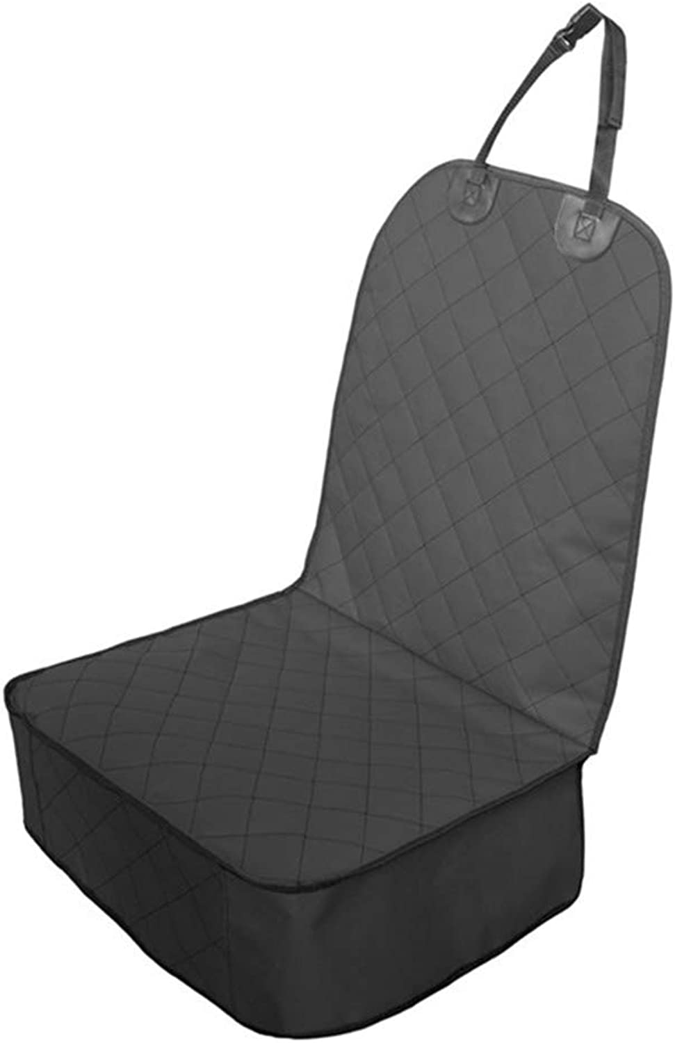 Dog's Front seat Cover, pet car seat Cover for Cars, Trucks and SUVs, Waterproof and AntiSkid Support Routine,Black