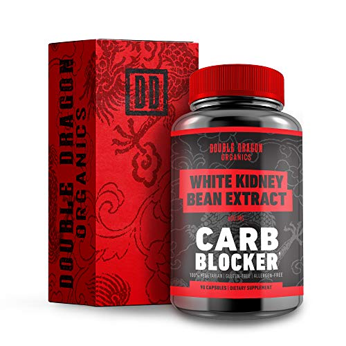 100% Pure White Kidney Bean Extract - Carb Blocker :: 90 Vegan Capsules :: 600 Milligram :: Double Dragon Organics