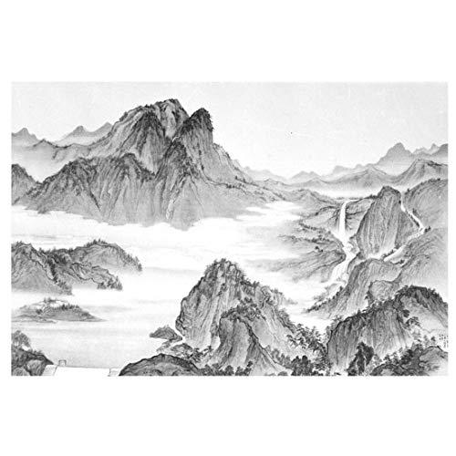 N/B 5484fdadfweqr Moderne minimalistische Wohnzimmer Sofa Schlafzimmer Wandbild chinesische Landschaft Malerei Tapete