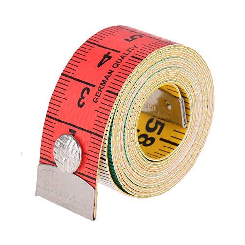 レインボーメジャー テープメジャー 裁縫用メジャー 両面 150cm ボディ測定定規 スナップ付き 可愛い