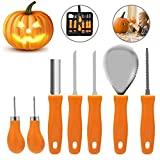 Pumpkin Carving Kit, Halloween Pumpkin Carving Tools, Premium 7 Piece Reusable Sturdy Stainless...