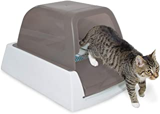 PetSafe ScoopFree Ultra Automatic Self Cleaning Hooded Cat Litter Box � Includes Disposable Trays with Crystal Litter and Hood - 2 Colors