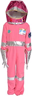Kids Pink Astronaut Halloween Costume Jumpsuit with Gloves Shoes Cover