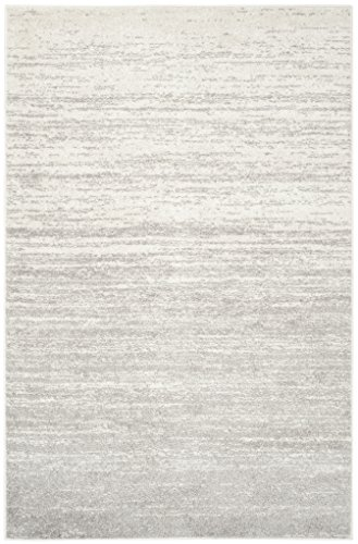 Safavieh Adirondack Collection ADR113B Modern Ombre Non-Shedding Stain Resistant Living Room Bedroom Area Rug, 6' x 9', Ivory / Silver
