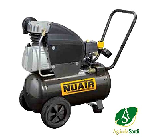NUAIR 2,5 HP compressor 1 CILINDRO FC2,5 24 LT MANOMETRI 10 bar 230 V