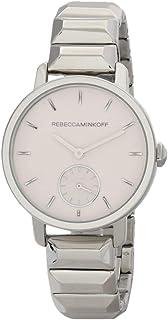 ساعة يد للنساء من ربيكا مينكوف بمينا فضي وسوار ستانلس ستيل، انالوج - 2200032