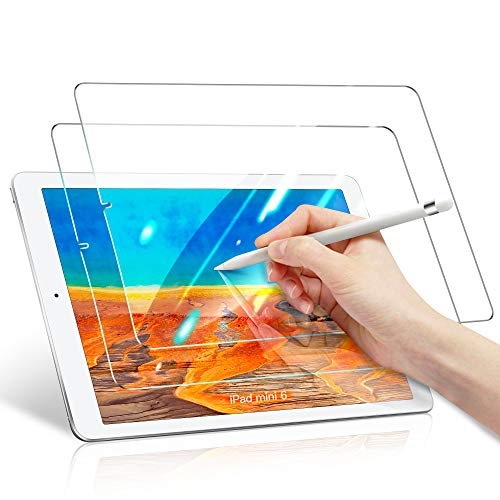 [2 Pack] Benazcap Screen Protector for New iPad Mini 6 2021, Easy Installation/Anti-Scratch/High Definition/9H Hardness Tempered Glass Screen Protector for iPad Mini 6