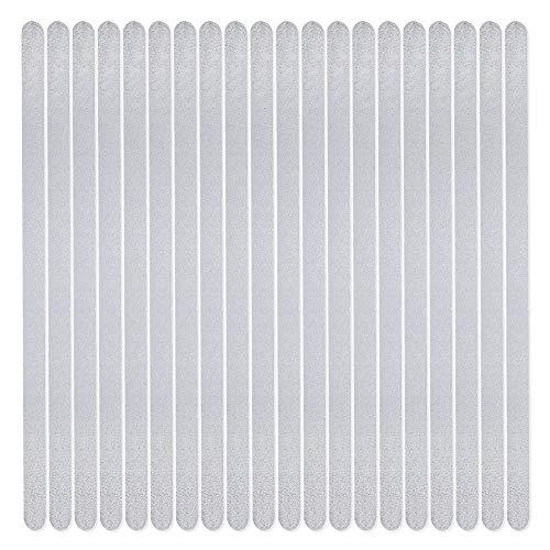 HaftPlus - 20 Stück Treppenstufen antirutsch, Antirutschstreifen für Treppen, transparent und selbstklebend, L: 45 cm x B: 2 cm