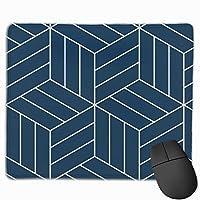 マウスパッド オフィス 最適 方形 背景 紺色 立体視 葉書 ゲーミング 光学式マウス対応 防水性 耐久性 滑り止め 多機能 標準サイズ25cm×30cm