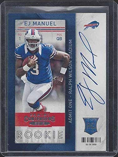 Ej Manuel 2013 Panini Contenders Rookie Ticket Bills On Card Auto Rc #209 - Football Slabbed Autographed Rookie Cards
