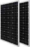 HQST 100W Monocrystalline Solar Panel (2-Pack Solar Panels)