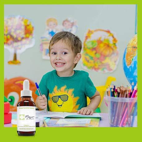 Fleur de Bach Enfants agités SANS ALCOOL- Ce mélange est efficace et utile pour apaiser les agitations excessives de l'enfant HYPERACTIF, calmer l'irritabilité, l'aider à se Concentrer FL de 30 ML
